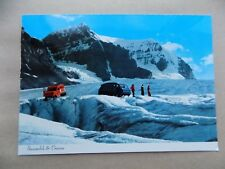 Snow Mobile & Crevasse Canadian Rockies Old Unposted Postcard b
