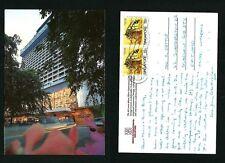 SINGAPORE VINTAGE - POSTCARD STAMP  HILTON INTERNATIONAL  HOTEL -- SINGAPORE
