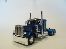 DCP FIRST GEAR 1/64 SCALE 359 PETERBILT SMALL BUNK, BLUE & CHROME