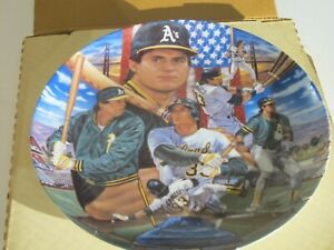 JOSE CANSECO SPORTS IMPRESSIONS COLLECTOR PLATE - Auth. Cert. & Original Box