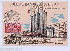 1956 - FDC CP 1°JOUR**/ FOIRE DE DIJON - PALAIS DE CHAILLOT - STAMP - Yv.818