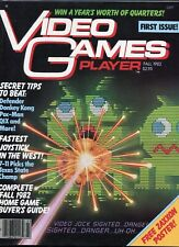 1981 Fall Video Games Player Magazine #1 Premier Issue Donkey Kong High Grade