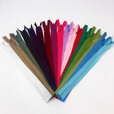 """8"""" YKK Invisible Zipper 25 Piece Multi-color Assortment Nylon Coil Closed End"""
