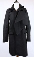 Helmut Lang Vintage Black Top Coat Size EU 40 Cotton Moleskin Italy