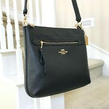 New Coach Mae Black Leather Crossbody Bag F34823
