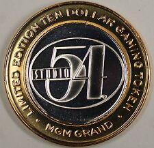 Studio 54 MGM Grand Las Vegas Limited Edition Ten Dollar Silver Gaming Token