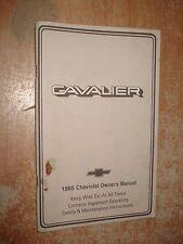 1985 CHEVY CAVALIER OWNERS MANUAL GLOVE BOX BOOK RARE ORIGINAL