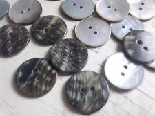 24 Pieces 20 mm Mother Pearl Shell Round Button, Vintage Abalone Buttons