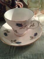 Vintage Royal Imperial England Bone China Teacup/Saucer Set Pink Roses