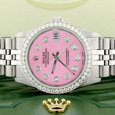 Rolex Datejust 31mm S/S Jubilee Women's Watch with Hot Pink Dial & Diamond Bezel
