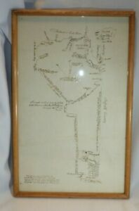 1797 Town Oyster Bay New York Map by William Stewart - Tracing of Original Map