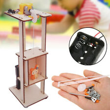 DIY Assemble Electric Lift Toys Kids Science Experiment Wood Kits Tool Gifts