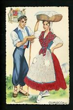Embroidered clothing postcard Artist Gumier, Spain, Guipuzcoa woman man #42