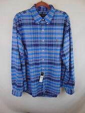 Ralph Lauren Men XLarge Blue Plaid Button Down Collar 1st Quality LS NWT B-RL