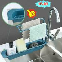 Telescopic Sink Racks Holder Expandable Storage Drain Baskets For Kitchen Tools