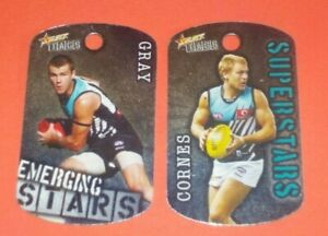 2010 Select Footy Tags #093 Kane Cornes & #097 Robbie Gray - Port Adelaide