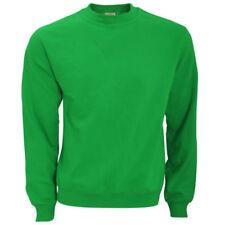 Felpe e tute da uomo casual verde con girocollo