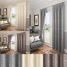 CARLTON FLORAL EMBOSSED LOOK PLAIN PENCIL PLEAT TOP FULLY LINED MODERN CURTAINS