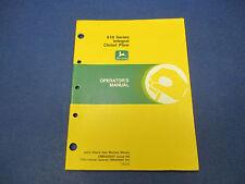John Deere Operators Manual No.Omn200097,Issue H6, 610 Ser. Integral Chisel Plow