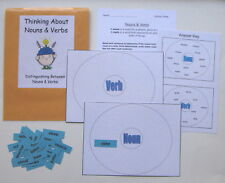 Teacher Made Literacy Center Activity Resource Game Distinguishing Nouns & Verbs