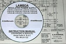 Lambda Lcs-D-2, Lcs-D-5, Lcs-D-6, Lcs-D-12, Lcs-D-15 +More Ops & Service Manual