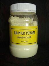 Sulphur (SULFUR) powder,laboratory grade flower of sulphur 400gram. FREE POSTAGE
