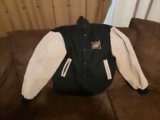 Vintage 20th Century Fox Varsity Leather Wool Jacket M Made In USA