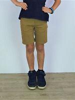 Boys Navy & Stone Pure Cotton Chino Shorts