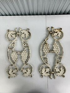 Architectural Salvage Cast Iron Fence Gate Sections Grapes Flowers Leaves Design