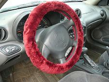 Australian Sheepskin Steering Wheel Cover - Burgundy
