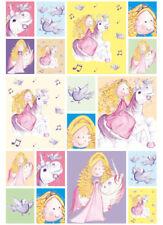 2 A5 Hojas Angel Face Unicornio ADHESIVOS PARA TARJETAS O MANUALIDADES