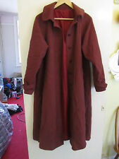 Vintage M&S Red 100% Wool Coat in Size 12 L Long / Tall