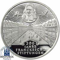 BRD 10 DM Frankesche Stiftungen 1998 Silber Spiegelglanz Münze in Münzkapsel