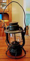 Vintage New York Central NYCS Railroad Lantern Clear Globe Dietz Vesta