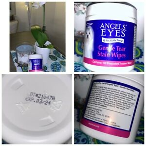 🐾Angels' Eyes Gentle Tear Stain Wipes Dogs 100 Ct Presoaked Textured 3/24🐾