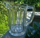 EAPG Paden City Pressed Glass ESTELLE Colonial Paneled 56 oz Water Beer Pitcher