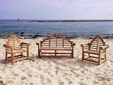 """Lutyens Premium Grade A Teak 3pc Set, 65"""" Bench/Two 36"""" Chairs-LIST $3700 SALE!"""