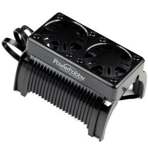 Powerhobby 1/5 Twin Cooling Fan w Housing 55mm : Castle Creations 1100KV Motor