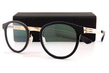 Brand New ic!berlin Eyeglass Frames Jangma Rose Gold-Black Men Women Size 46mm