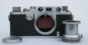 Wartime (1940) Leica IIIc Red curtain CLA'd in excellent original condition