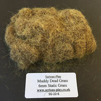 Serious-Play Muddy Dead Static Grass 6mm -Model Scenery Warhammer Wargame brown