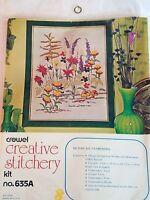 FLOWERAMA 635A Crewel Embroidery Kit NOS Kugel-Vogart Floral
