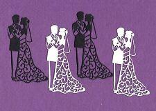 BRIDE and GROOM # 4 wedding die cuts scrapbook cards