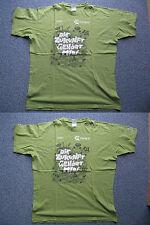 2 Shirts Partnershirts Gr. M + L grün mit Aufdruck Camp D Die Zukunft gehört mir