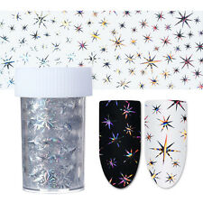 Holographic Silver Star Manicure Nail Art Transfer Sticker Starry Sky Nail Foil