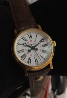 Mondaine Swiss Made Unisex Watch Dreamy & Pretty, Roman Digits Plaque Gold