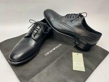 EMPORIO ARMANI Men's BROGUE DERBY X4C184 Leather LACE-UP Black DRESS SHOES - 7.5