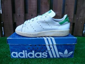 VINTAGE ADIDAS STAN SMITH 80s casuals MADE IN FRANCE ORIGINAL ISSUES 1970'S UK6