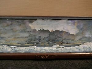 HMS King George V Diorama model in case