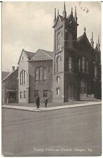 Trinity Lutheran Church in Bangor PA Postcard 1914